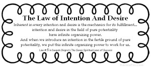 The Law of Intention And Desire