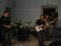 My sweet husband back there on the drums